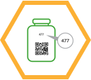 bottle barcode icon