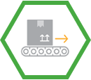 box on conveyor icon